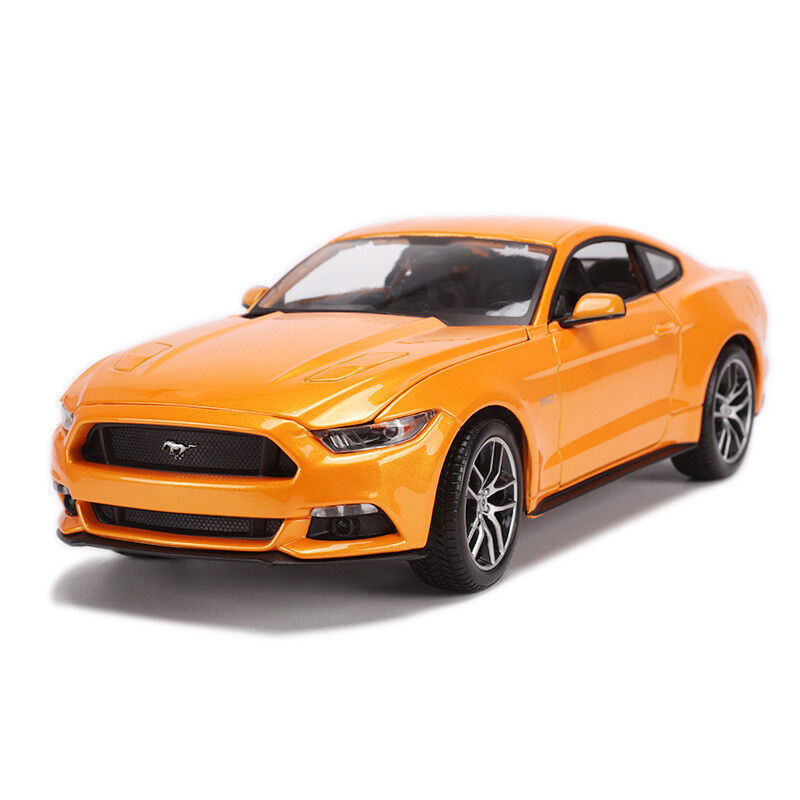 Maisto 1 18 2015 Ford Mustang GT Coche Modelo de Metal Fundido arancia Nuevo en Caja