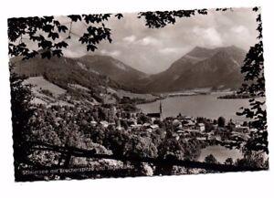 Germany-Schliersee-mit-Brecherspitze-und-Jagerkamp-Vintage-RP-Postcard