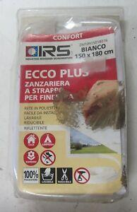 Ravissement Irs Zanzariera A Strappo X Finestre Rete In Poliestere 150x180cm Lavabile Bianco