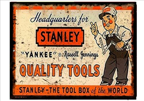 Stanley Tools Advertising Reproduction Sign Vintage Workshop Advertising