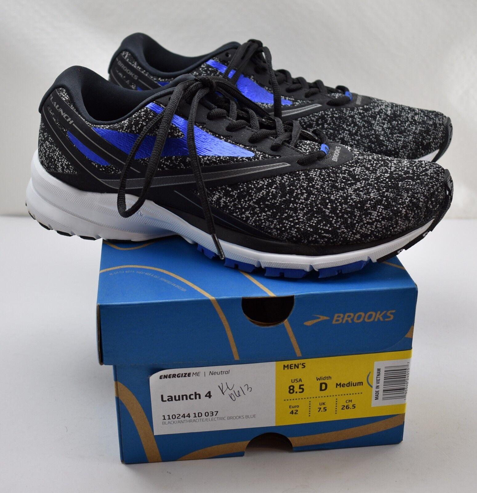 Brooks Launch 4 Zapatos Para Correr Negro Antracita Azul eléctrico-Para Hombre 8.5 D 42 UE