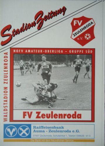 Programm 1996//97 FV Zeulenroda VfL Halle 96