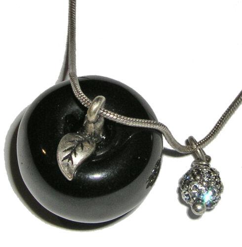 HULTQUIST Halskette mit Apfel schwarz NEU!