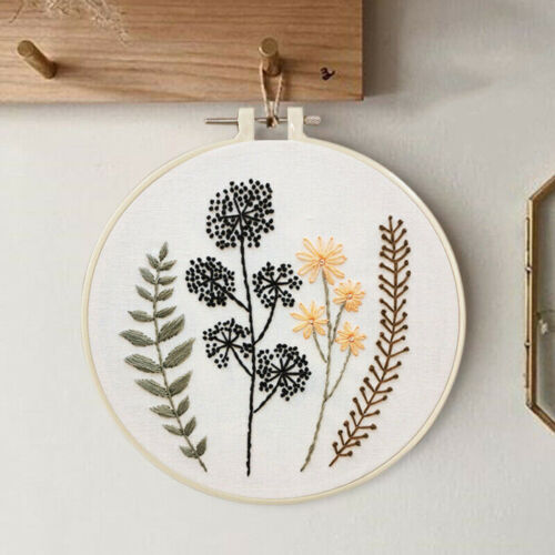 Beginners Embroidery Cross Stitch Set With Hoop Home DIY Handicraft Gift Decor