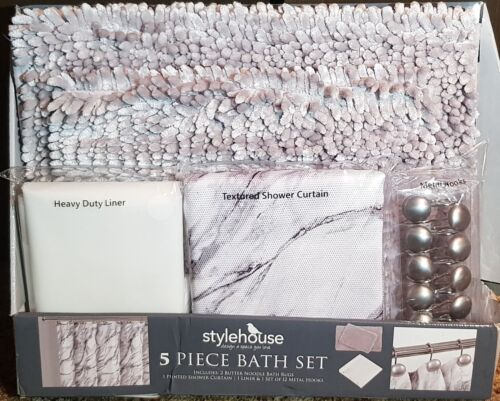 NO ADDITIONAL TAX!! Stylehouse by Idea Nuova 5-Piece Bath Set NEW