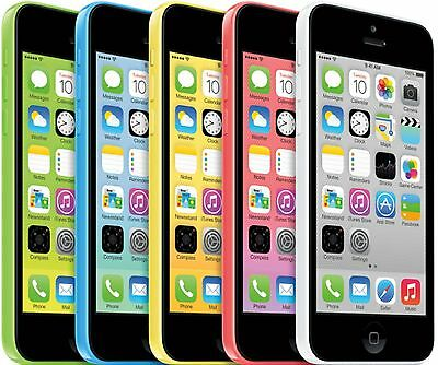 Apple iPhone 5c - 16GB (Unlocked) Smartphone - White Blue Green Pink Yellow(A+)