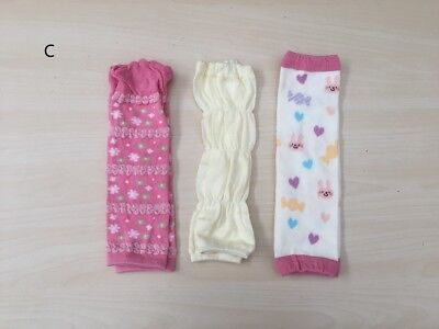 3x Baby Infant Toddler Girl Boy Solid Colour Leg Warmers brand new VERY soft