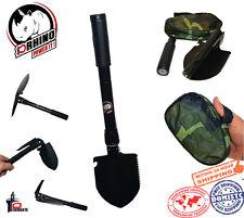 "D-Rhino Folding Shovel 16.5"" Camping Garden Military Style Survival Multi w/Case"