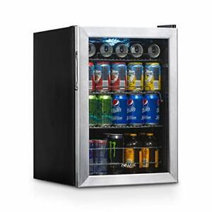Stainless Steel Refrigerator Cooler With 90 Can Capacity Right Hinge Glass Door