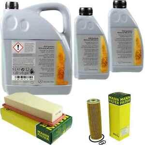Inspektionspaket-7L-Mercedes-Ol-229-51-5W30-MANN-Luftfilter-Olfilter-11104398