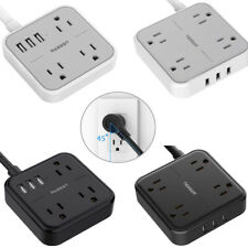 4.9ft Desk Mountable Power Strip 4 USB Ports 3 Outlets Home Travel Hotel Office
