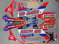 Honda CRF250 2010-13 CRF450 09-12 Lucas Oil graphic kit,seat cover,plastic kit