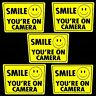 SECURITY SURVEILLANCE CAMERAS IN USE STICKER DECALS SMILE YOU'RE ON HOME VIDEO
