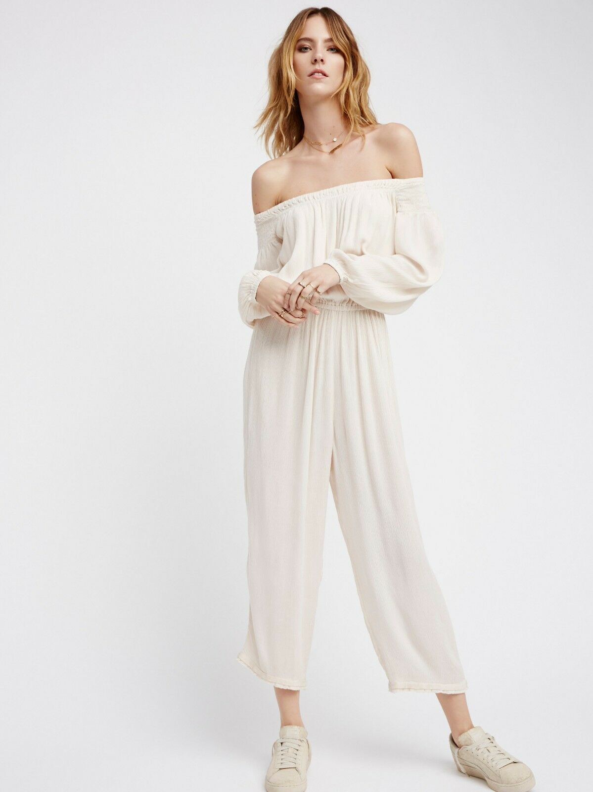Free People Show Your Shoulder Romper   20865   Size M