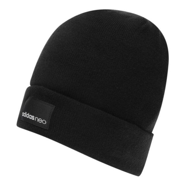 ac5e6a3f9 Adidas Neo Mens Knit LOGO BEANIE Beanie All Year Beanie Hat black WINTRE  BEAN