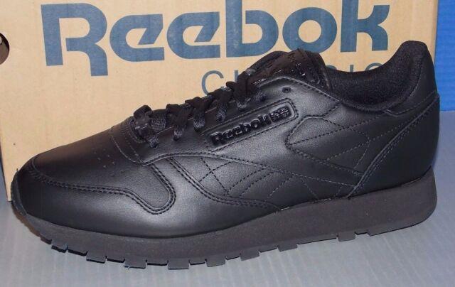 9c76b9233f0ed3 Reebok Classic Leather J90119 Mens Black Casual Athletic Fashion Shoes 8