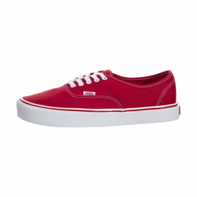 40c4d1e2b50f VANS off The Wall Authentic Lite Canvas Red Shoes Mens 8.5 Womens 10 ...