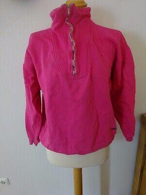 2019 Mode Vintage Pullover Pink 80er Jahre Ski Rausch Gr. S/m Kragen Mottoparty GläNzende OberfläChe