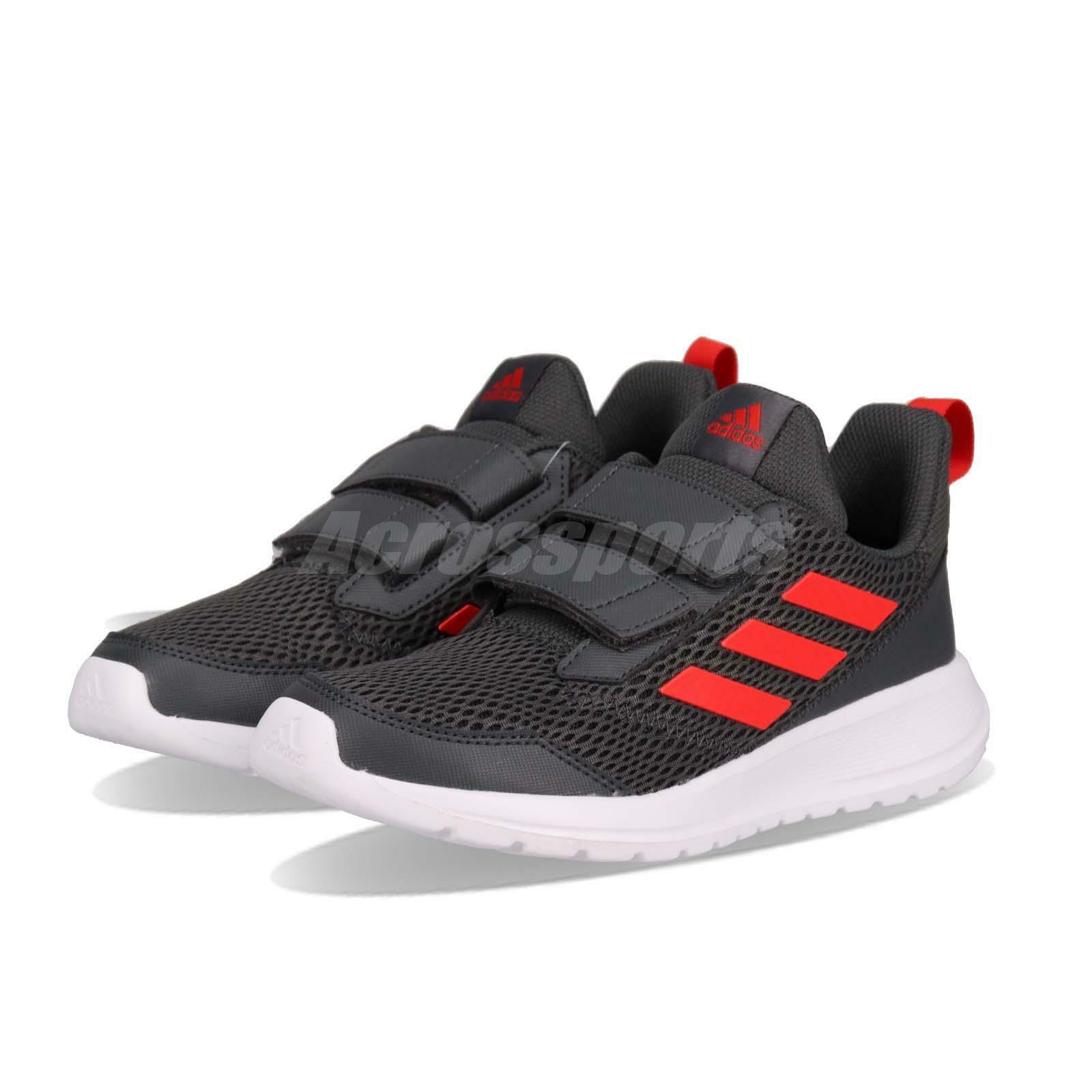 Adidas AltaRun CF K gris rojo blanco Kid Junior Preschool zapatos zapatillas CG6896
