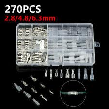 270x Assortment Terminal Kit Electrical Wire Crimp Connectors Male Female Spade
