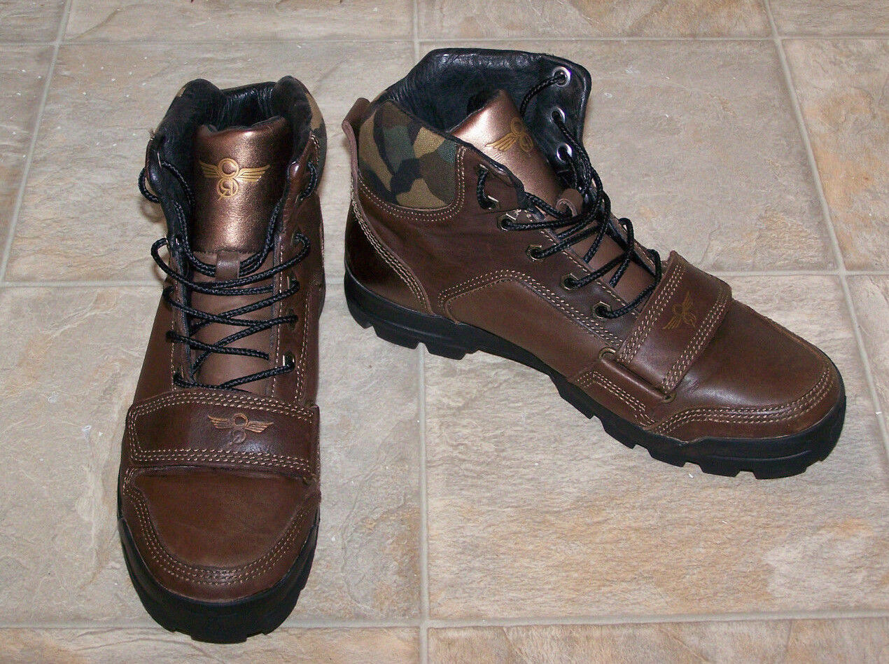 Creative Recreation Dio Mid Resistant brown bronze camo fashion boots sz 7 ER 39