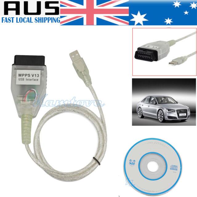 For VW AUDI BMW MPPS V13 Chip-Tuning OBD2 Car ECU USB Program Diagnostic Cable