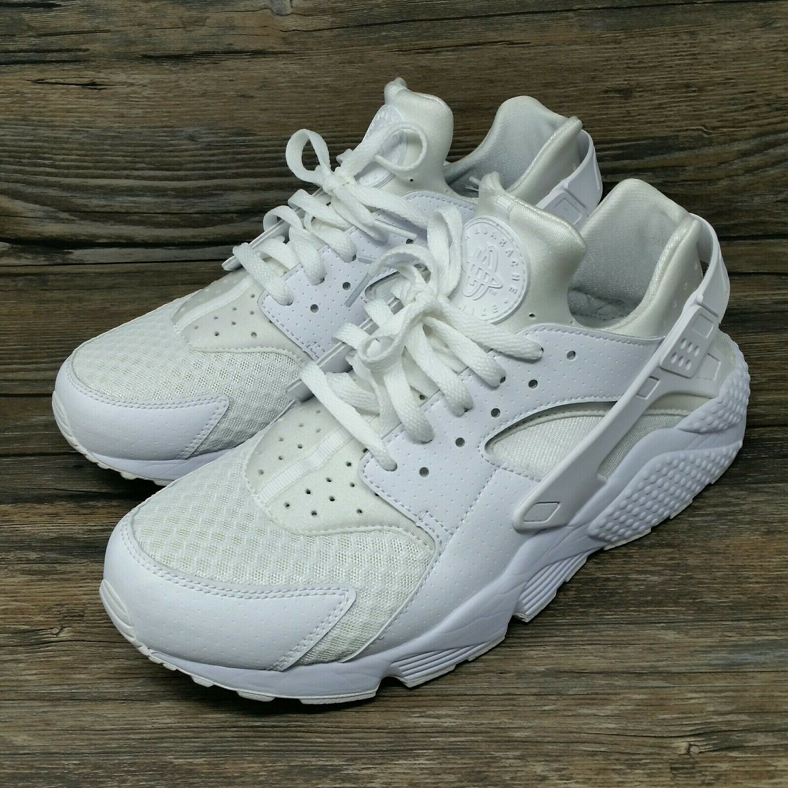 Nike Air Huarache Run (Men's Size 10.5) 10.5) 10.5) Athletic Running Sneaker shoes Wh 820691