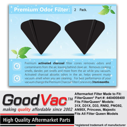 GoodVac Activated Charcoal Cones to Fit ANY Filter Queen Vacuuum