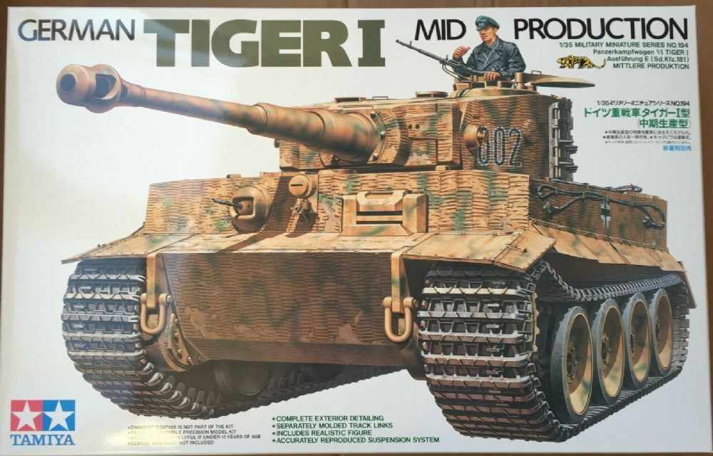 Tamiya 1 35 scale WW2 German Tiger I Mid Production tank