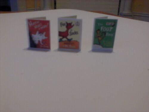 Dr Seuss Horton Hears a Who + 2 dollhouse miniature book
