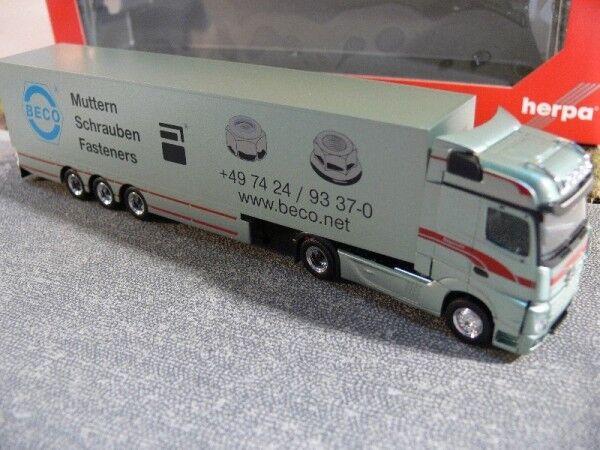 1 87 Herpa MB Actros Bigspace bagemühl valise-Semi-remorque 307055