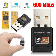 Zopsc 600M Dual-Band WiFi Bluetooth 4.0 AC USB Wireless USB Network Card for Desktop with 2 Smart Omnidirectional Antennas Inside and Outside