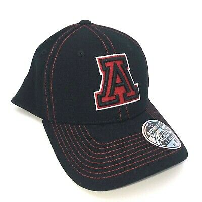 newest collection cheap huge selection of Arizona Wildcats Cap Zephyr Stretch Fit Fitted Black Finisher Hat ...