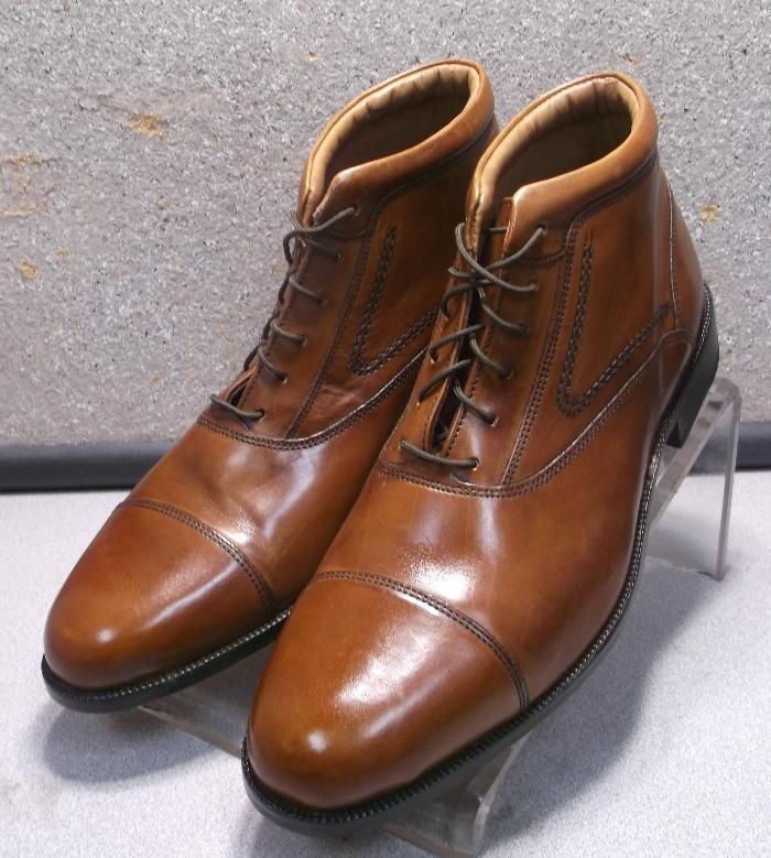 157062 msbt 50 para hombres zapatos M Bronceado De Cuero Con Cordones botas Johnston Murphy