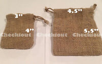 6 12 48 Pcs Burlap Gift Bags Wedding Party Favor Jewelry Treat Pouch Decoration