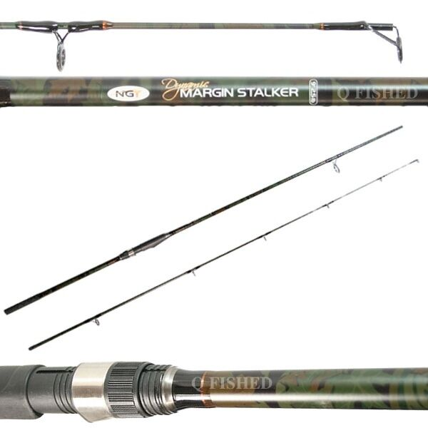 CARBON CAMO DYNAMIC MARGIN STALKER FISHING ROD camo 9ft, 2pc, 2.5lb NGT