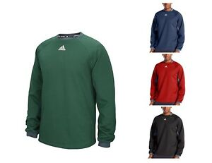 adidas-Mens-Long-Sleeve-Pullover-Sweatshirt-Fielder-039-s-Choice-Fleece-Top