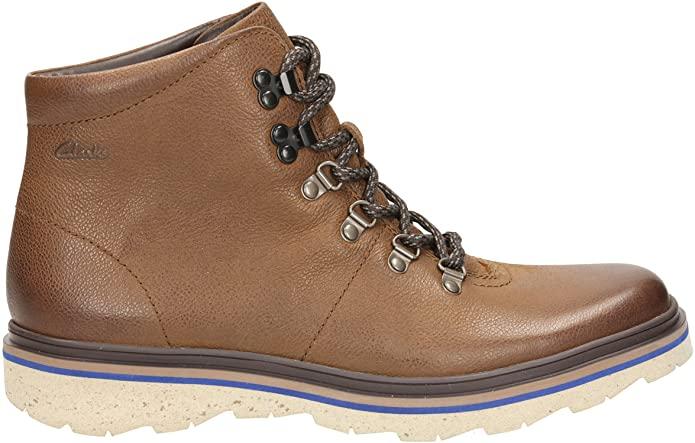 Clarks Mens BNIB Boots FRELAN ALP Brown Leather UK 11 / 46