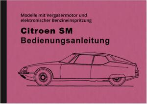 Citroen-SM-Bedienungsanleitung-Betriebsanleitung-Handbuch-User-Owners-Manual