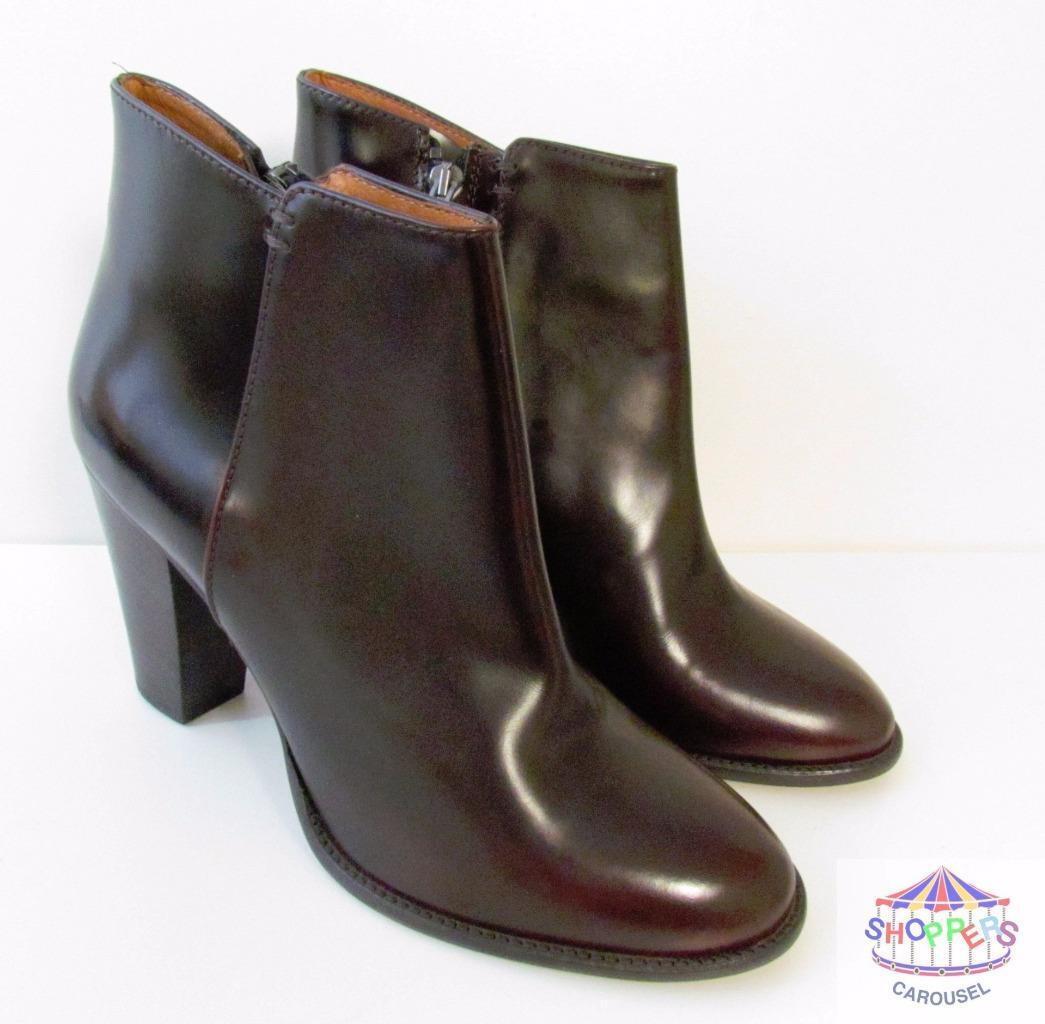 Madewell Hadley Cordovan Leather botas Wine ankle J Crew NEW