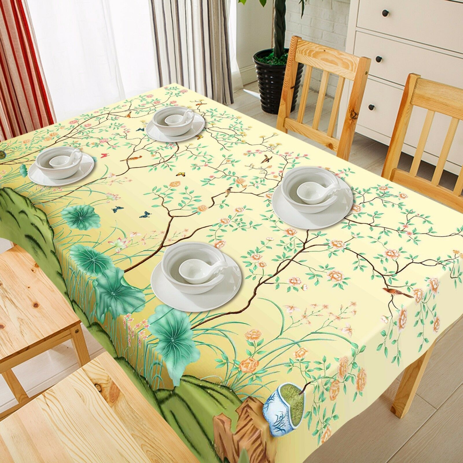 3D Leaf 992 Tablecloth Table Cover Cloth Birthday Party Event AJ WALLPAPER AU