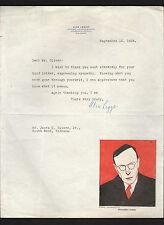 Alexander Legge signed 1924 letter by president of International Harvester *Alex
