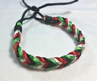 Palestinian Flag Braided Bracelet Palestine Four Colors Flag Wristband