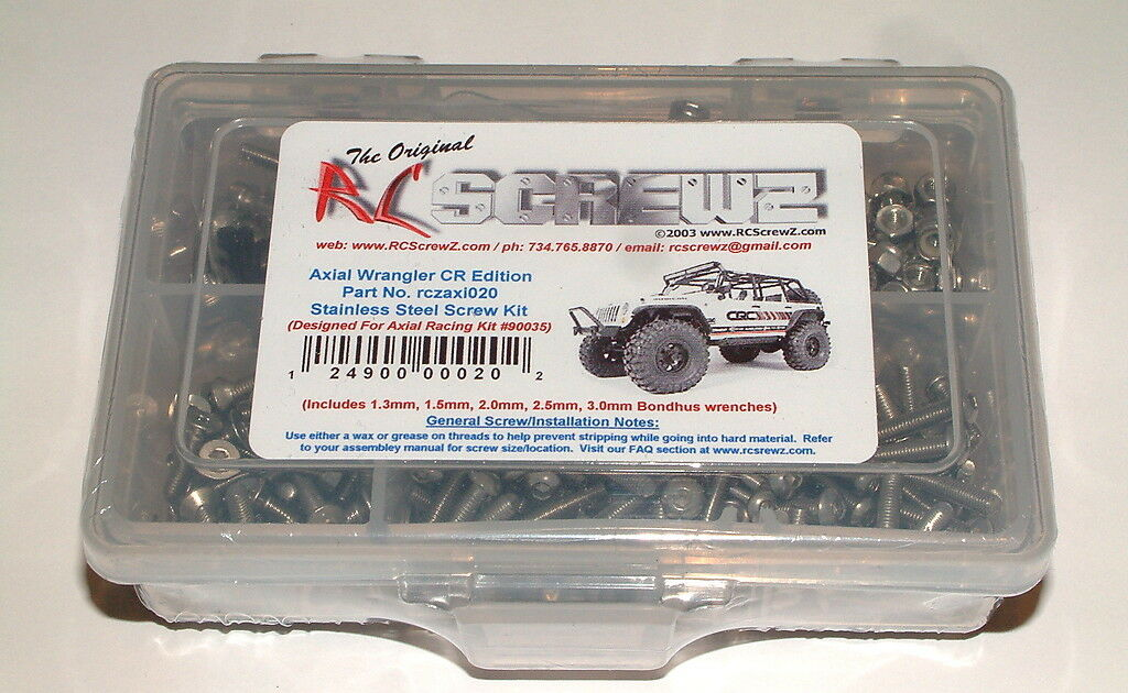 AXIAL RACING WRANGLER C R EDITION RC SCREWZ SCREW KIT STAINLESS STEEL AXI020