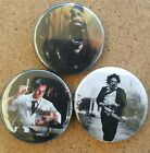 80's horror movie badge set The Howlling Reanimater Texas Chainsaw Masacare