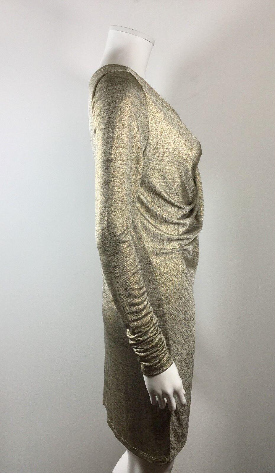 ROBERT RODRIGUEZ RODRIGUEZ RODRIGUEZ ROBBI & NIKKI gold Size Small Long Sleeve Credver Dress ea6bab