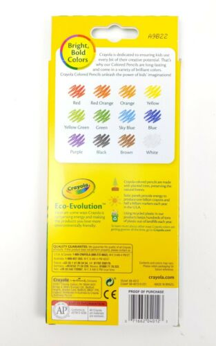 10 Box Lot Crayola Colored Pencils 12 Pack Pre Sharpened Nontoxic Bright Colors