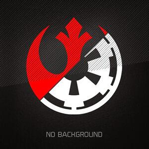 star wars rebel alliance galactic empire 2 color vinyl decal sticker