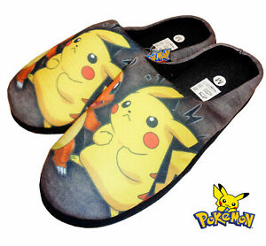 MENS-NOVELTY-POKEMON-HUXLEY-SLIPPERS-SLIP-ON-WARM-COMFY-MULES-XMAS-GIFT-UK-7-12