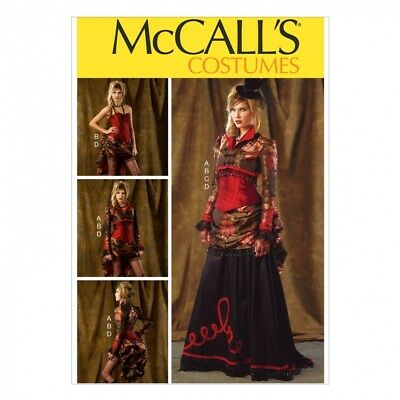 Free UK P/&P McCalls Cosplay Ladies Sewing Pattern 2023 Historical Floor...